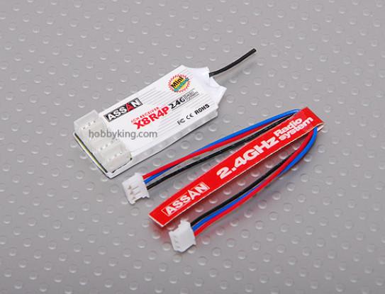 X8 R4 4Ch 2.4GHz Receiver (plug Mini JST)