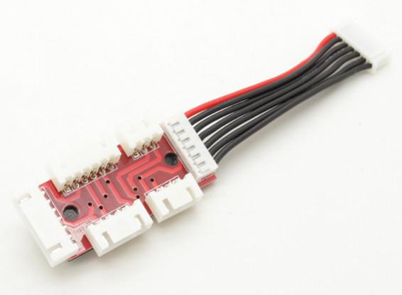 placa de adaptador para 2S-6S LiPoly Baterias com JST-XH Saldo Plugs