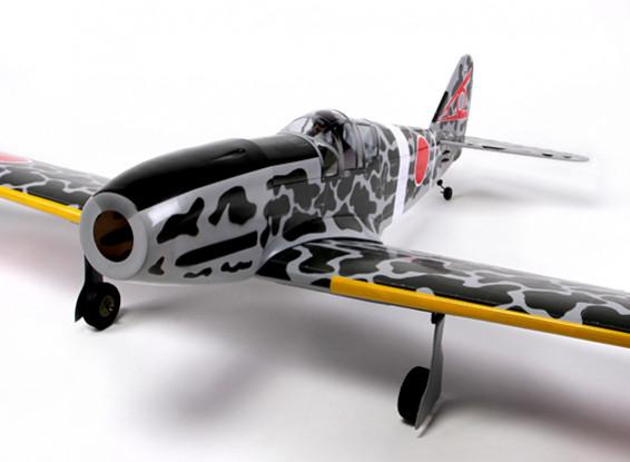 Kawasaki Ki 61 Tony Balsa 46 tamanho 1.540 milímetros (ARF)