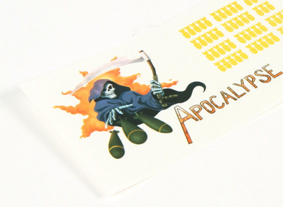 Arte do nariz - Apocalypse 250 x 85 milímetros auto-adesivo Decal Set