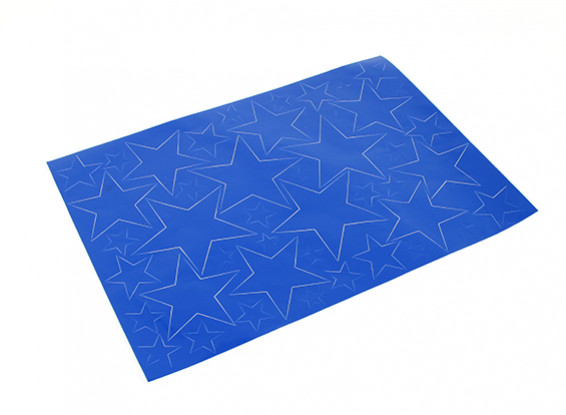 Star Padrão auto-adesivo Decal Set 420 x 300 milímetros (azul) (1pc)
