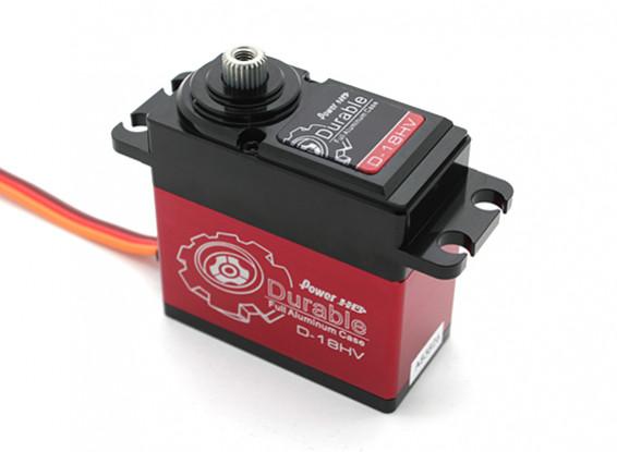 Poder HD Durable D-18HV alta tensão Digital Car Servo w / liga de titânio Engrenagens 18 kg / 75g / .10sec