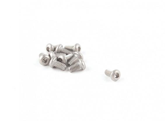 Titanium M2 x 4 Bottonhead Hex Parafuso (10pcs / saco)
