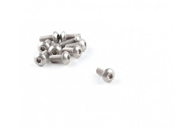 M2.5 Titanium x 6 Bottonhead Hex Parafuso (10pcs / saco)