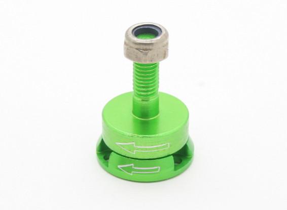 CNC alumínio M6 Quick Release auto-aperto Prop Adaptadores Set - Green (anti-horário)