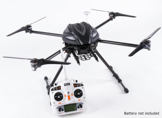 Walkera QR X800 FPV GPS Quadrotor, retrai, DEVO 10, w / out bateria (Modo 1) (pronto para voar)