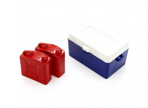 1/10 Escala Fuel Can & Ice Box
