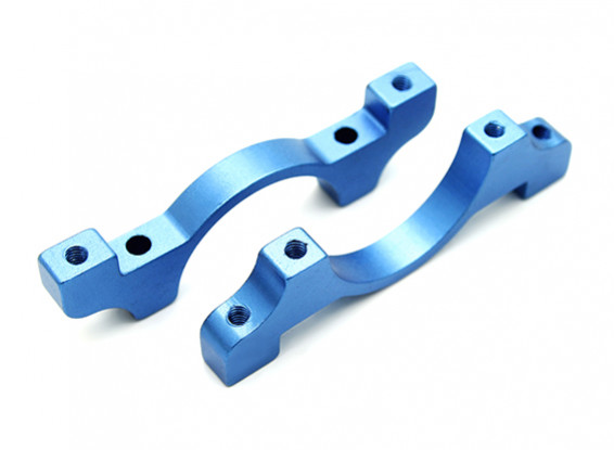 Azul anodizado CNC alumínio Tubo Braçadeira Diâmetro 25 milímetros