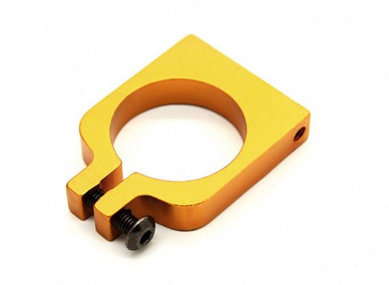Ouro anodizado de Face Única CNC alumínio Tubo braçadeira 20 mm de diâmetro
