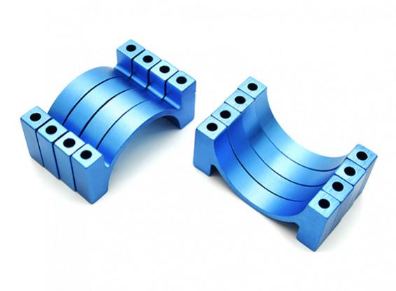 Azul anodizado CNC alumínio Tubo braçadeira 28 milímetros de diâmetro (conjunto de 4)