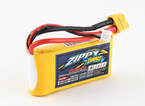ZIPPY Compact 1300mAh 2s 40c Lipo pacote