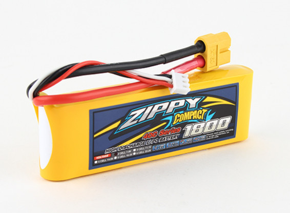ZIPPY Compact 1800mAh 2s 40c Lipo pacote