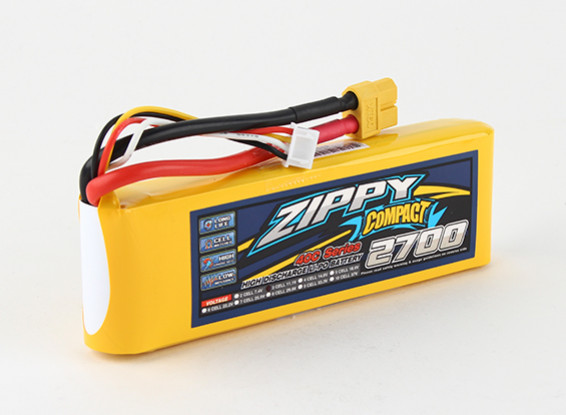 ZIPPY Compact 2700mAh 3S 40C Lipo pacote