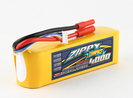 ZIPPY Compact 4000mAh 4s 60c Lipo pacote