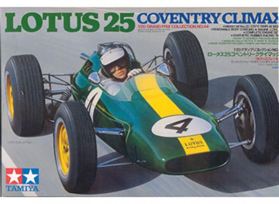 Kit Tamiya 1/20 Escala Lotus 25 Coventry Climax Modelo plástico