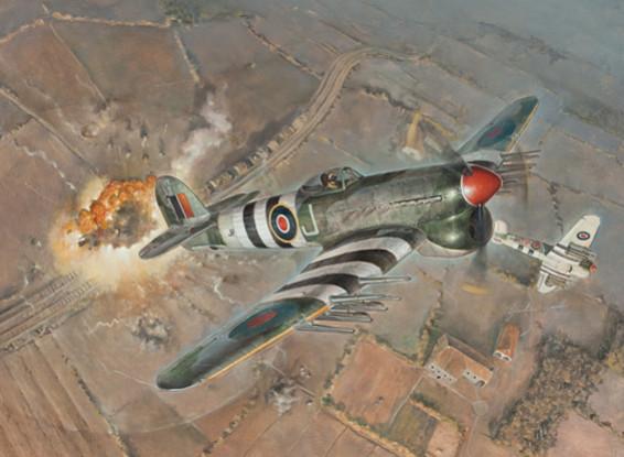 Kit Italeri 1/48 Escala Hawker Typhoon Mk.IB Plastic Modelo