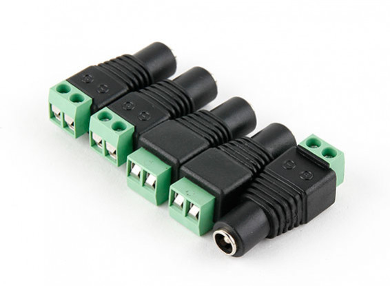 2,5 milímetros DC Power Tomada com Screw Terminal Block (5pcs)