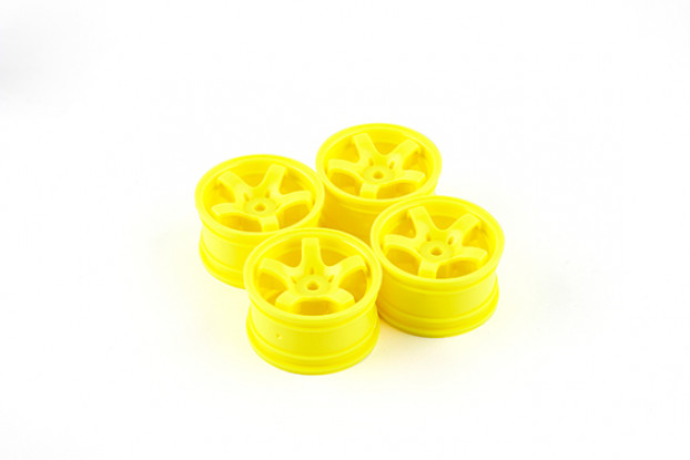 Varrer Mini 5 Spoke tipo de roda A - amarelas (4pcs)