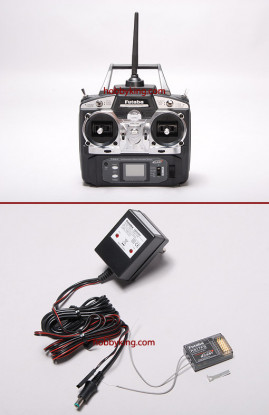 Futaba 6EX 2.4GHZ Sistema de Rádio FAAST w / R617FS Receiver (Modo 2)