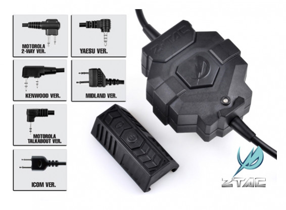 estilo Z Tactical Z123 Ztac sem fio PTT (Motorola de 2 pinos)