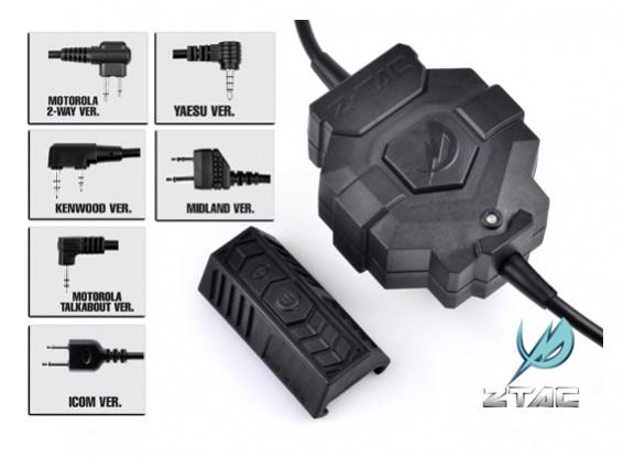 estilo Z Tactical Z123 Ztac sem fio PTT (Kenwood)