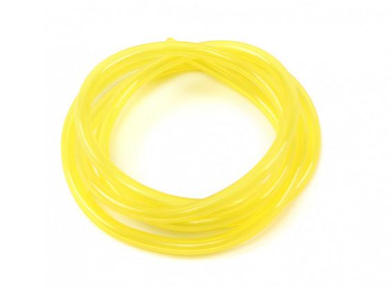 Tubo de combustível de silicone amarelo 2,5 mm x 1 m para motores nitro