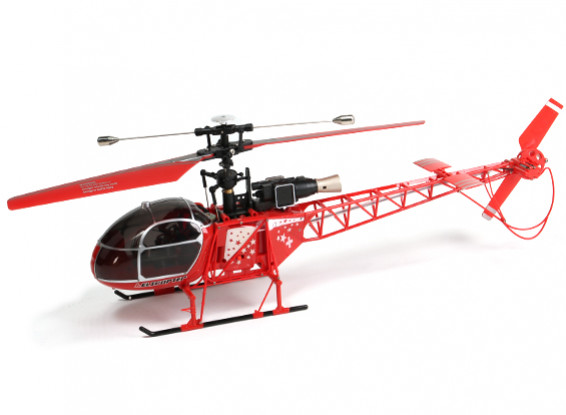 WLToys V915 2.4G 4CH Helicopter (pronto para voar) - vermelho