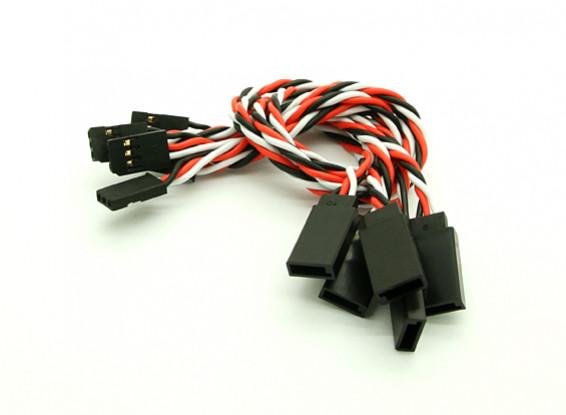 20 centímetros Futaba 22AWG trançado de fios de extensão M para 5pcs F