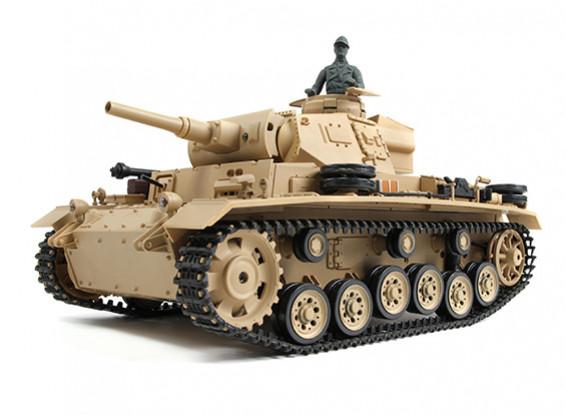 Tauch Panzer III Ausf.H RC Tanque RTR w / Airsoft / Smoke & Tx (plug EUA)