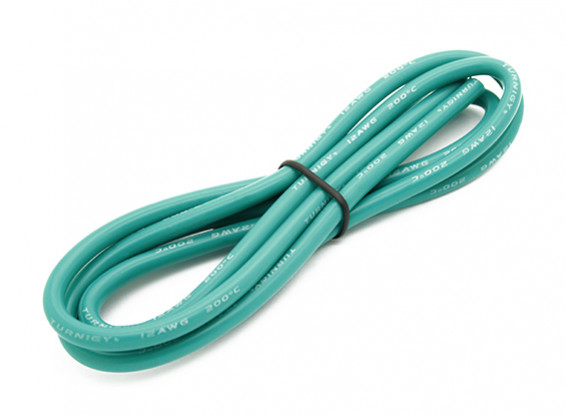 Turnigy alta qualidade 12AWG Silicone Fio 1m (verde)