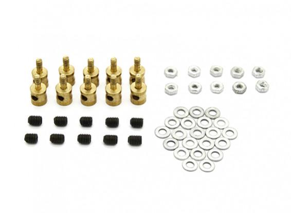 Latão Linkage rolha para Pushrods 2mm (10pcs)