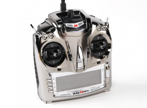 JR XG11MV 11CH Modular Transmitter Mode 2 com TG2.4XP DMSS Módulo & Receiver RG731BX