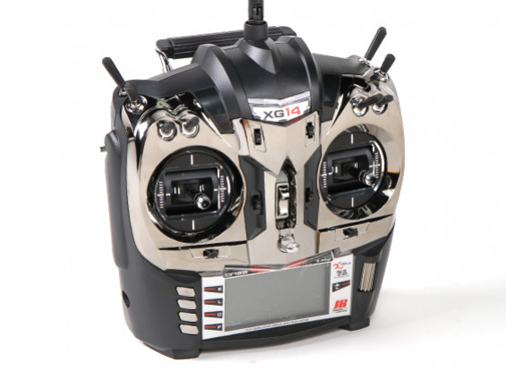 JR XG14 14ch DMSS XBus Transmitter Mode 2 com RG731BX Receiver