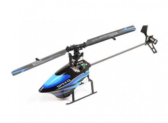 WL Toys V933 Skylark CCPM 6 Canal Flybarless Helicopter pronto para voar de 2,4 GHz (azul)