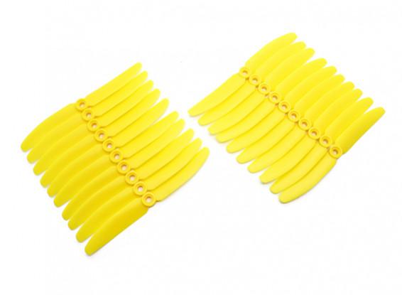 Gemfan 5030 Multirotor ABS Hélices massa Pack (10 pares) CW CCW (amarelo)