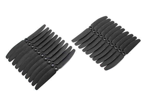Gemfan 5030 Multirotor CRP Hélices massa Pack (10 pares) CW CCW (Black)