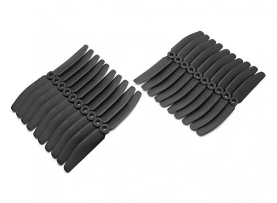 Gemfan 5040 Multirotor CRP Hélices massa Pack (10 pares) CW CCW (Black)