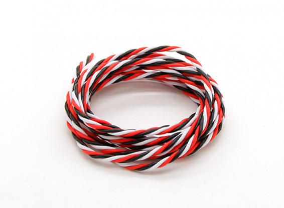 Torcido 22AWG Servo fio vermelho / preto / branco (2mtr)