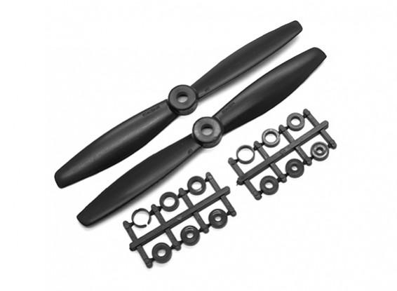 Gemfan Touro Nose ABS 6045 2-Blade Hélices Preto (CW / CCW) (2pcs)
