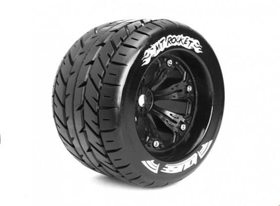 "LOUISE MT-ROCKET 1/8 Scale Traxxas Estilo Bead 3,8 ""Monster Truck SPORT Composto / Preto Rim"