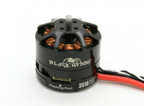 Black Widow 3510-540Kv com built-in ESC CW / CCW