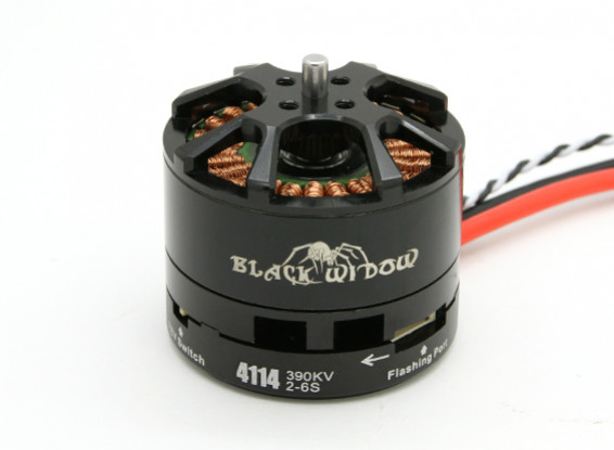 Black Widow 4114-390Kv com built-in ESC CW / CCW