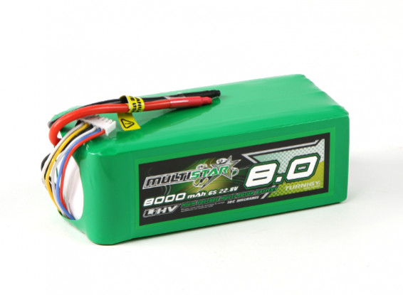 MultiStar LiHV High Capacity 8000mAh 6S 10C Multi-Rotor Lipo Pack