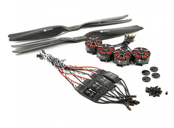 LDPOWER D1200 Sistema de Energia Multicopter 4114-320kv (15x5.5) (4 Pack)