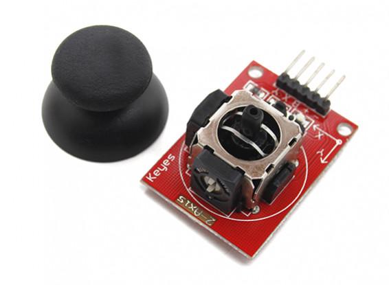 Botão Keyes duplo eixo de comando Joystick Para Arduino