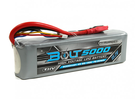 Turnigy Parafuso 5000mAh 4S 15.2V 65 ~ 130C High Voltage Lipoly Pack (LiHV)