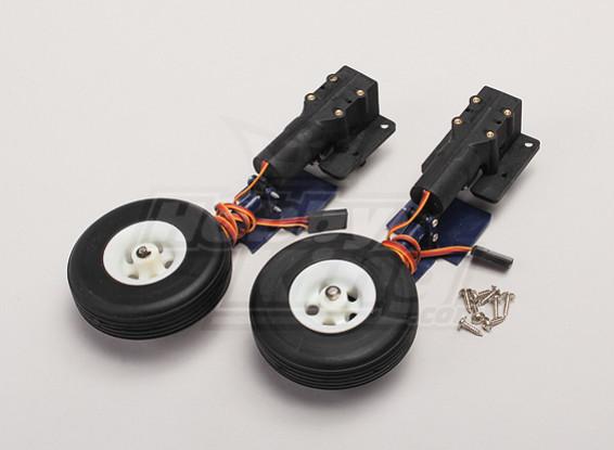Durafly ™ F4-U Corsair 1.100 milímetros Rotating Retracção Set