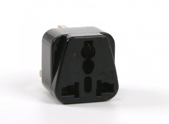 Turnigy WD-7 Fused 13 Amp Corrente eléctrica multi Adapter-Black (Plug UK)