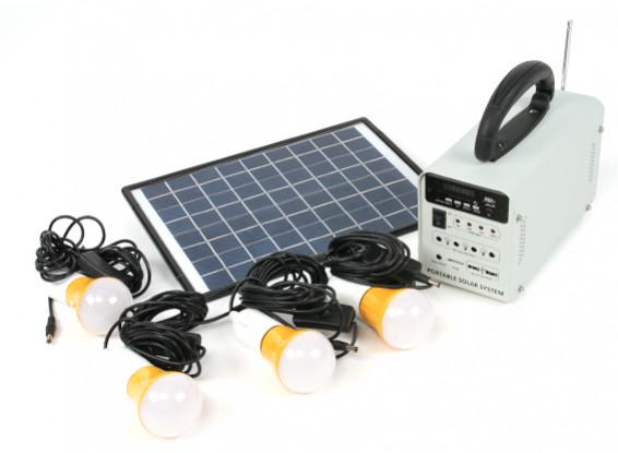 HT-731 Sistema de energia solar w / rádio FM