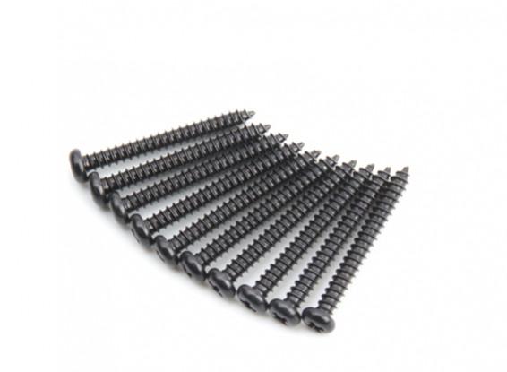 Metal Round Head Self-Tapping afiada cauda Phillip Screw M2.5x22-10pcs / set